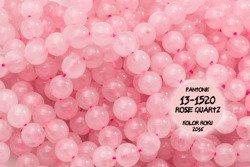 Kamienie Kwarc różowy 2495kp 10mm 1sznur