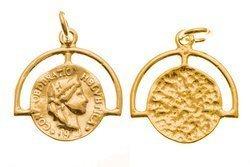 Srebro 925 Zawieszka moneta 837ez 10mm 5szt.