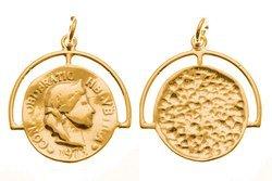 Srebro 925 Zawieszka moneta 841ez 16mm 1szt.