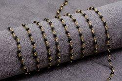 Szlachetny Spinel na łańcuszku srebro 925 1000kp 3.5mm Z1cm