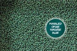 TOHO TR-11-1207 Marbled Opq Turq/Blue 10g