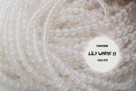 Agat biały 3667kp 4mm 1sznur