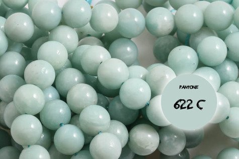 Amazonit miętowy 2381kp 12mm 1sznur