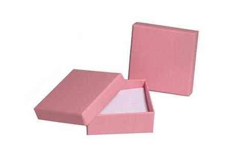 Pudełko jubilerskie 082okms 60x60mm różowy Z1szt.