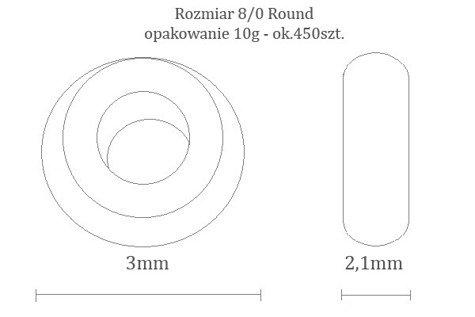TOHO TR-08-2110 S-Lined Milky Lt Topaz 10g