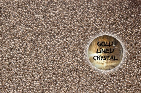 TOHO TR-11-989 Gold Lined Crystal 10g